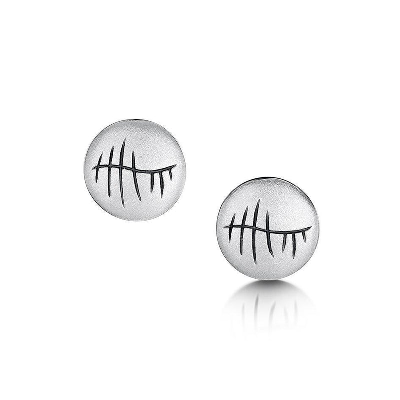 Sheila Fleet Ogham Earrings - E099-Ogham Jewellery