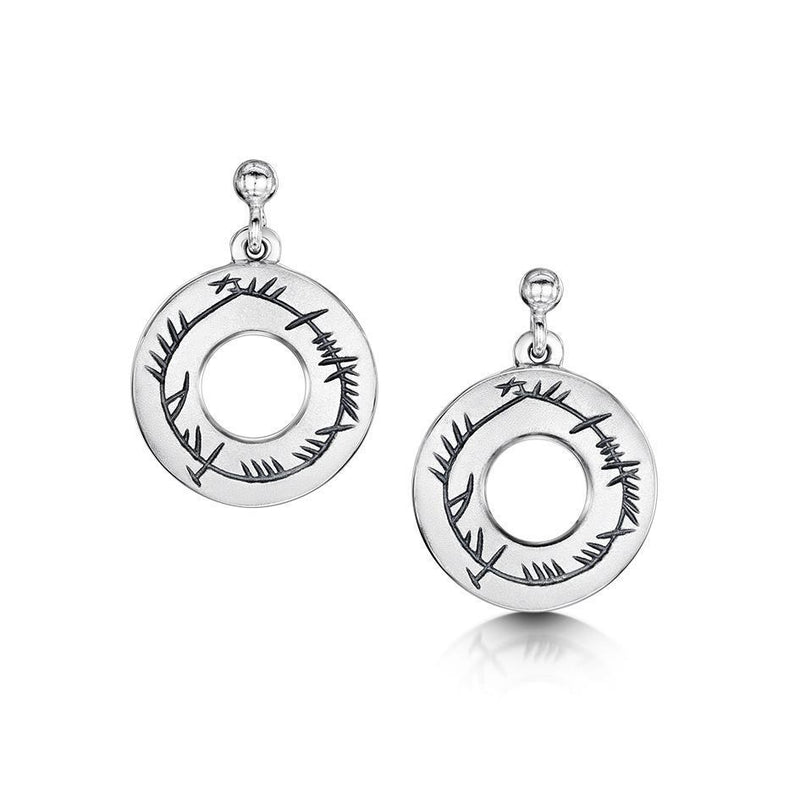 Sheila Fleet Ogham Earrings - E99-Ogham Jewellery