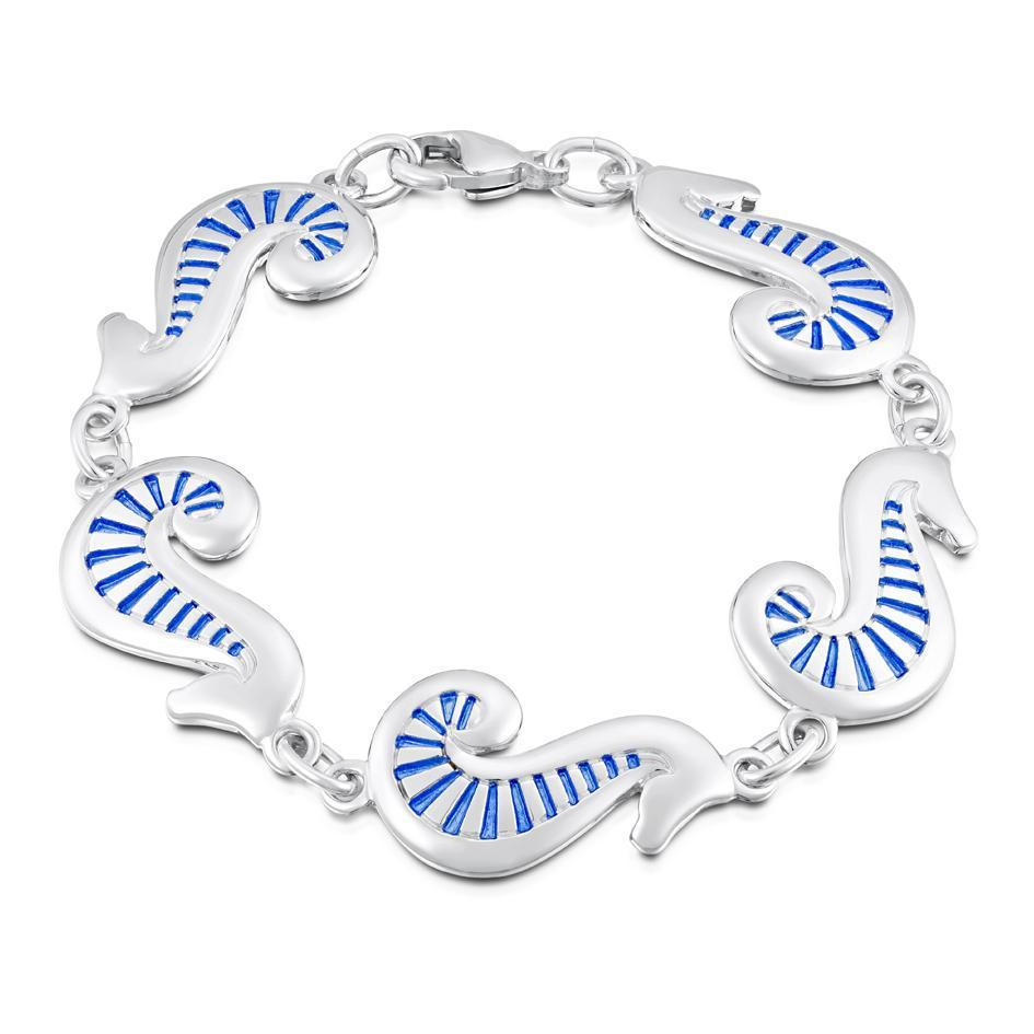 Sheila Fleet Pictish Sea Horse Bracelet - EBLX81-Ogham Jewellery