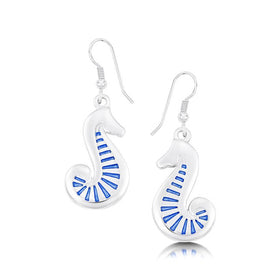 Sheila Fleet Pictish Sea Horse Silver Earrings - EEXX81-Ogham Jewellery