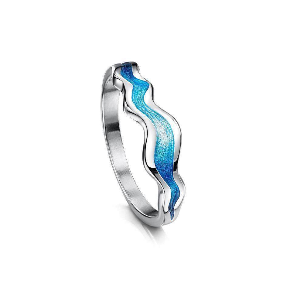 River Ripples Enamel Ring - ER87