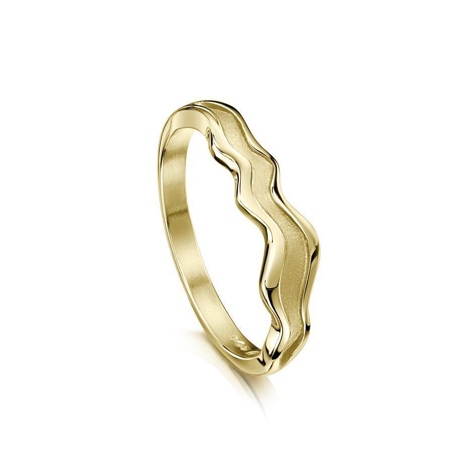 Sheila Fleet River Ripples Ring Gold, Platinum or Palladium - R87-Ogham Jewellery