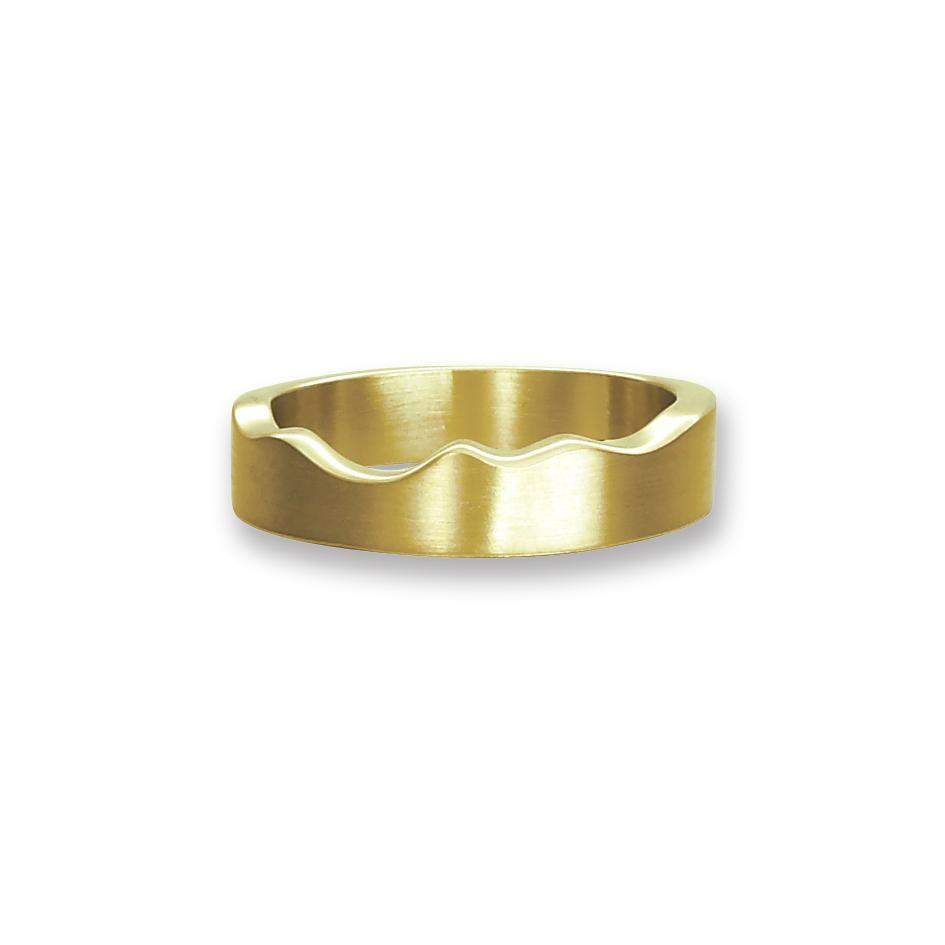 Sheila Fleet River Ripples Ring - RX87 (Yellow/White Gold, Platinum)-Ogham Jewellery