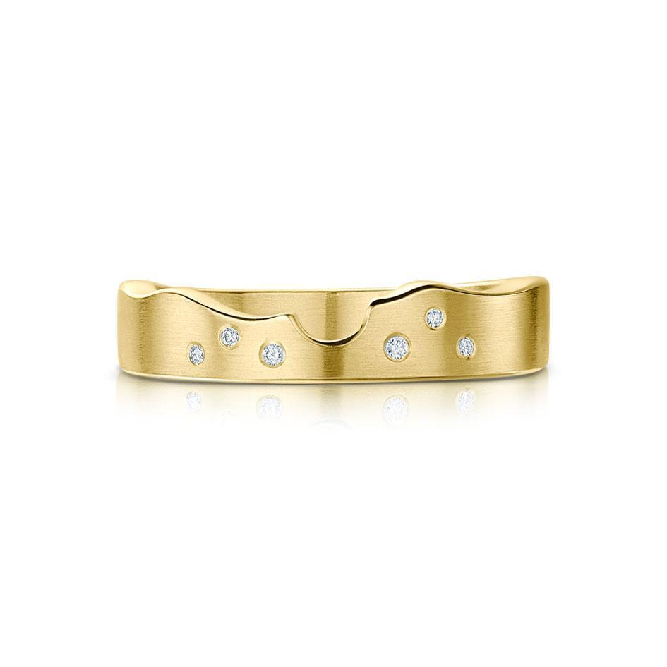 Sheila Fleet River Ripples Shaped Ring - Gold, Platinum, Palladium - DR088-Ogham Jewellery
