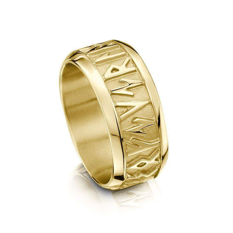 Runic Ring - Silver, Gold, Platinum, Palladium - Sizes J-P1/2 - RX34