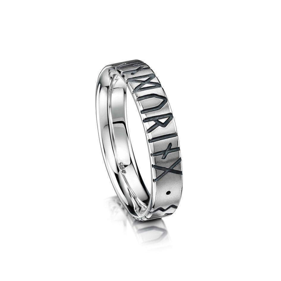 Runic Ring - Silver, Gold - R34 (Sizes J-Q)