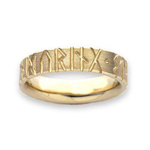 Runic Ring Various Metals - R34 (Sizes R-Z)