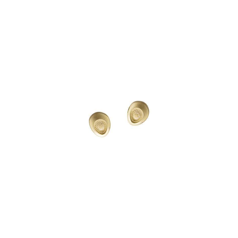 Sheila Fleet Shoreline Pebble 9ct Gold Earrings - E00167-Ogham Jewellery