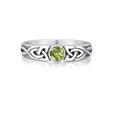 Sheila Fleet Silver And Gemstone Ring (various gemstones) - SR80-Ogham Jewellery
