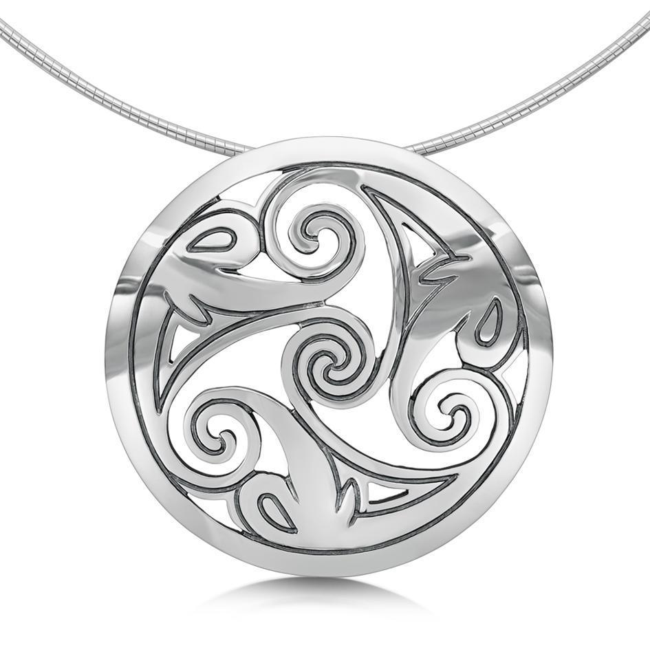 Sheila Fleet Silver Birsay Necklace - MNX1-Ogham Jewellery