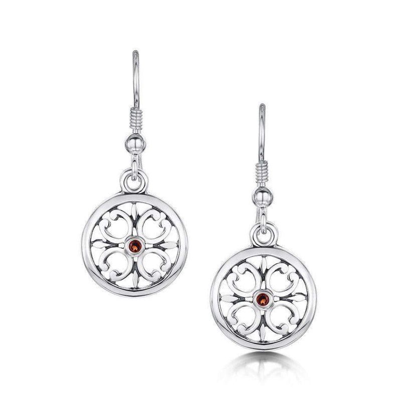 Sheila Fleet Silver Cathedral Earrings -SE0021-Ogham Jewellery