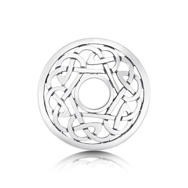 Sheila Fleet Silver Celtic Brooch - BX11-Ogham Jewellery