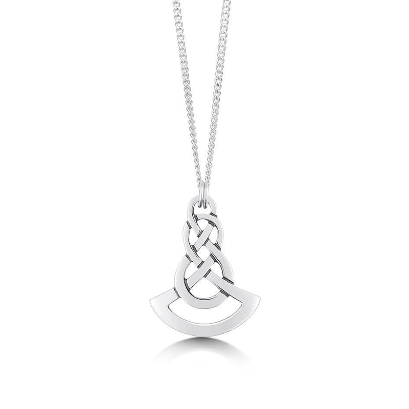 Sterling Silver Lovers Knot Celtic Pendant - P025