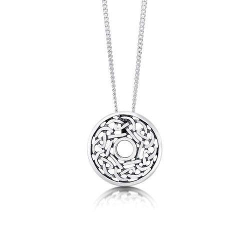 irish jewelry celtoc pendant rose and diamond celtic gold white fado necklace