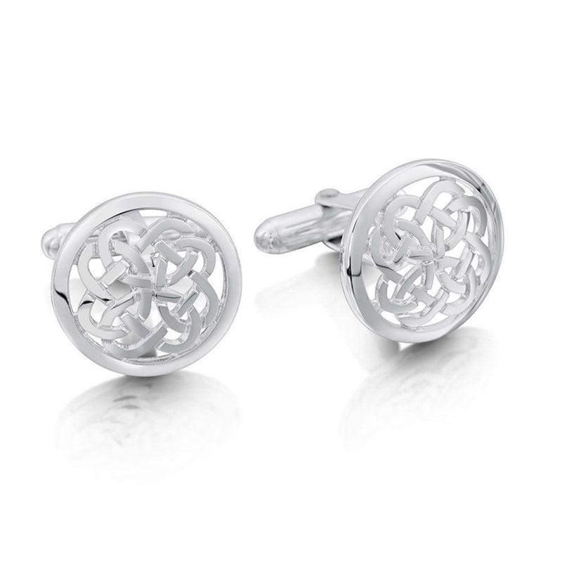 Sterling Silver Maid Of The Loch Cufflinks - CL136