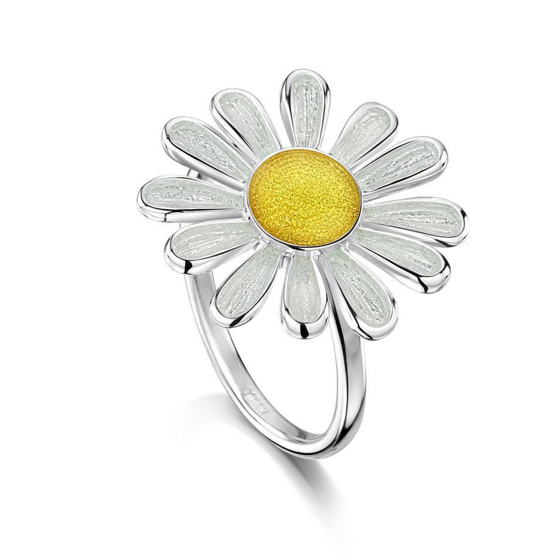 Sheila Fleet Silver Daisies at Dawn Ring - ER233-Ogham Jewellery
