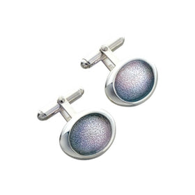 Sheila Fleet Silver Pebble Cufflinks - ECL167-Ogham Jewellery