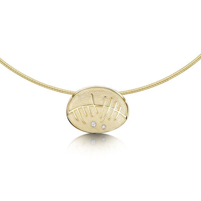 Sheila Fleet Skyran 9ct Gold and Diamond Necklace - DN103-Ogham Jewellery