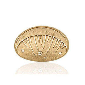 Sheila Fleet Skyran Brooch 9ct or 18ct Gold -DBX103-Ogham Jewellery