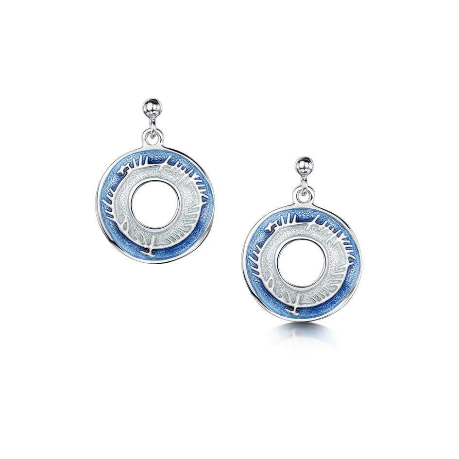 Skyran Sterling Silver Drop Earrings - EE100