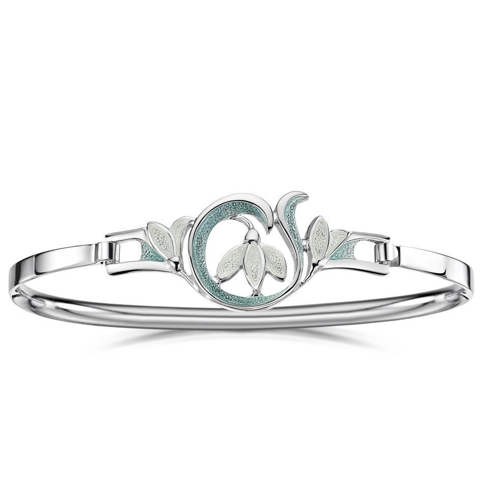Sheila Fleet Snowdrop Bangle - EBLX230-Ogham Jewellery