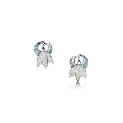 Sheila Fleet Snowdrop Earrings - EE0226-Ogham Jewellery