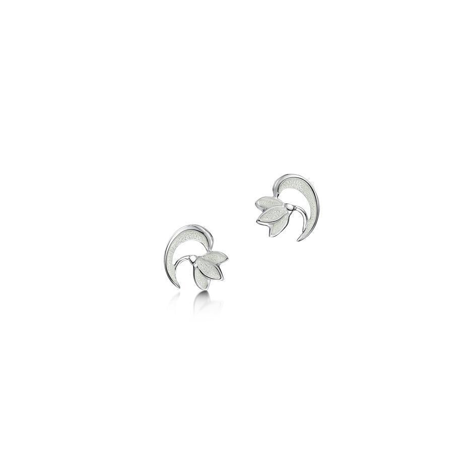 Sheila Fleet Snowdrop Earrings - EE0230-Ogham Jewellery