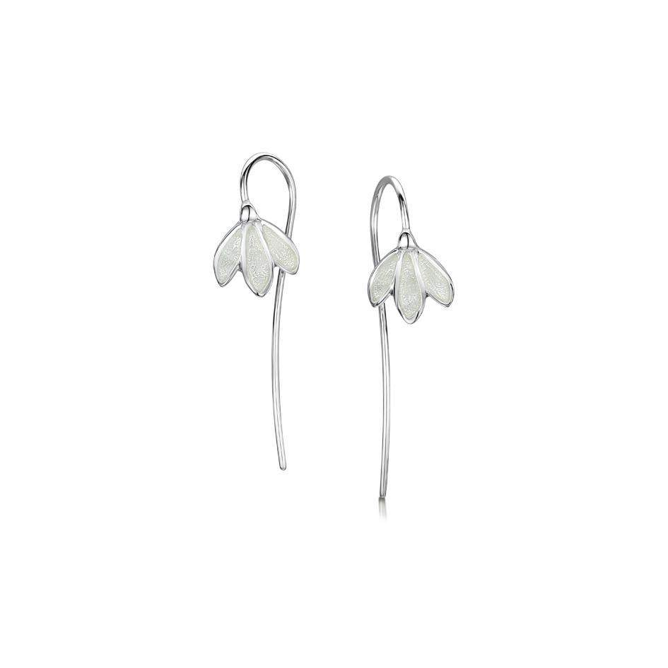 Sheila Fleet Snowdrop Earrings - EE226-Ogham Jewellery