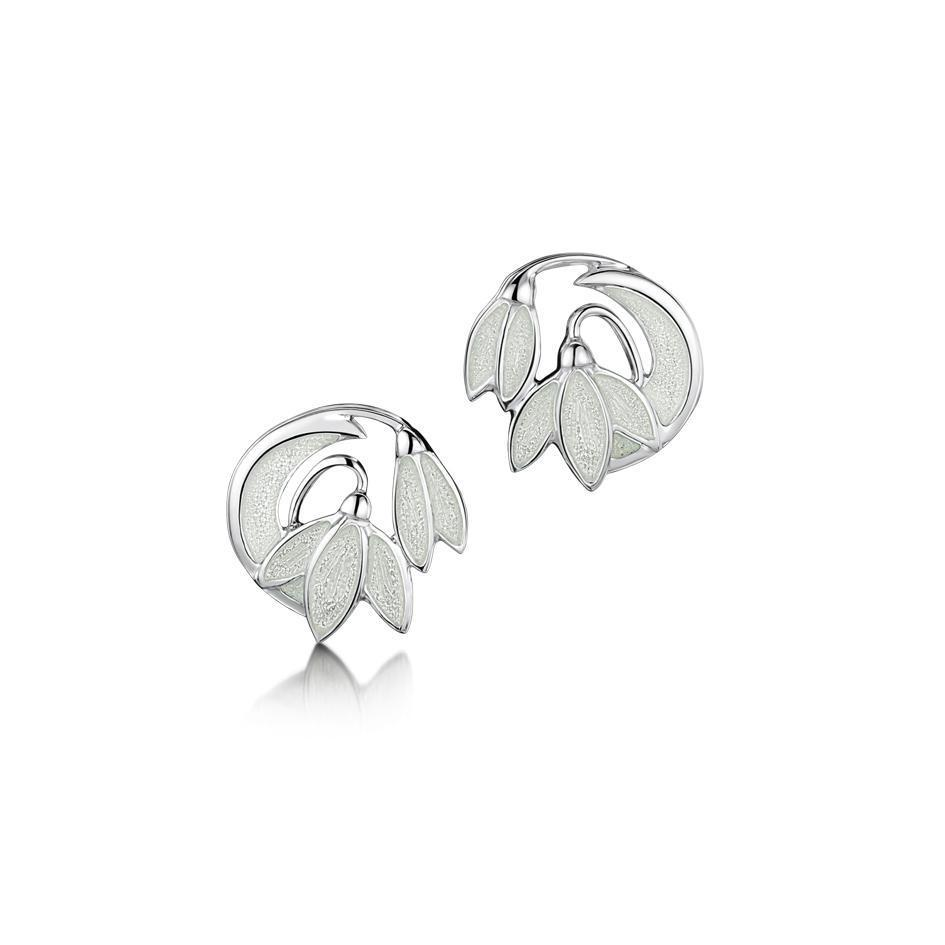 Sheila Fleet Snowdrop Earrings - EE230-Ogham Jewellery