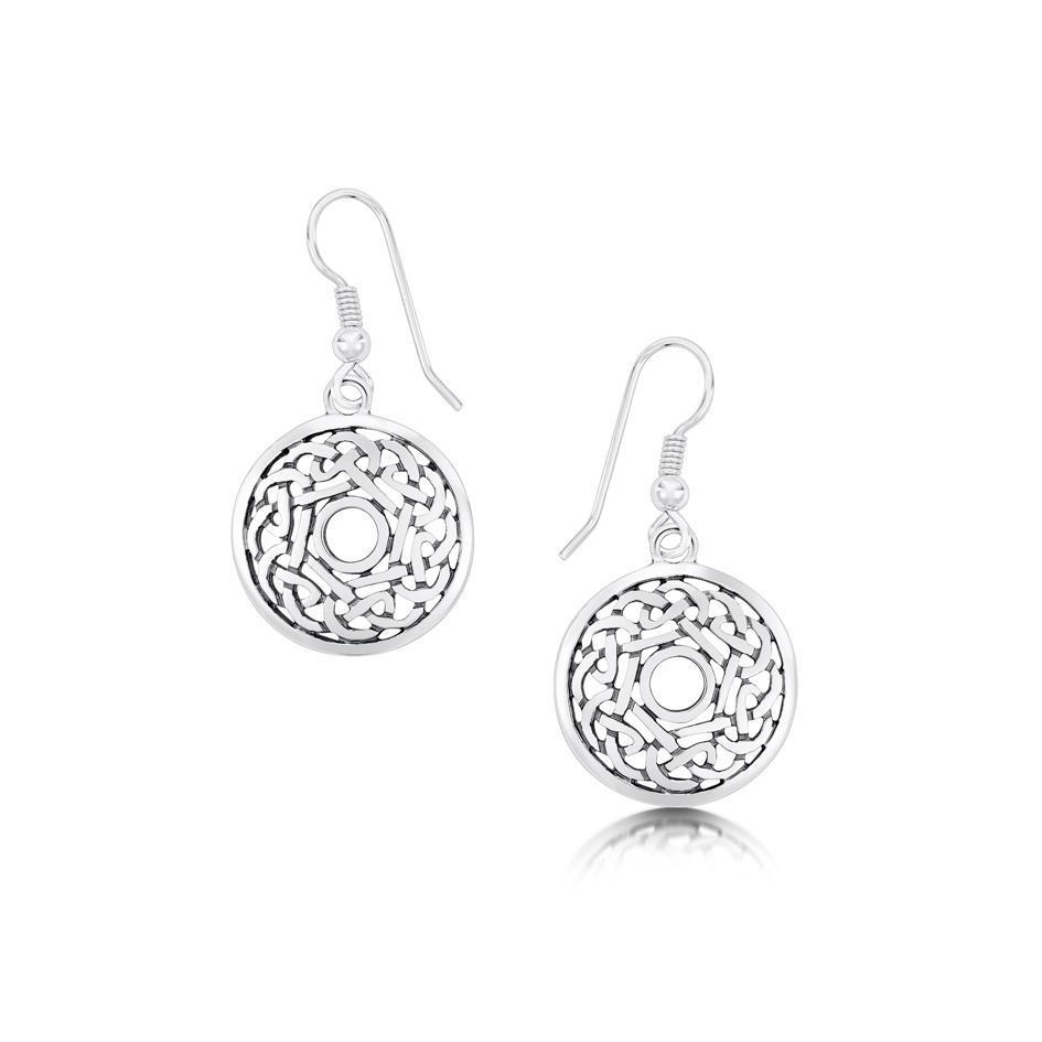 Sheila Fleet Sterling Silver Celtic Earrings - E11-Ogham Jewellery