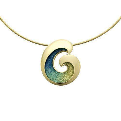 Sheila Fleet 18ct Gold Necklet 'Wave' GENXX135-Ogham Jewellery