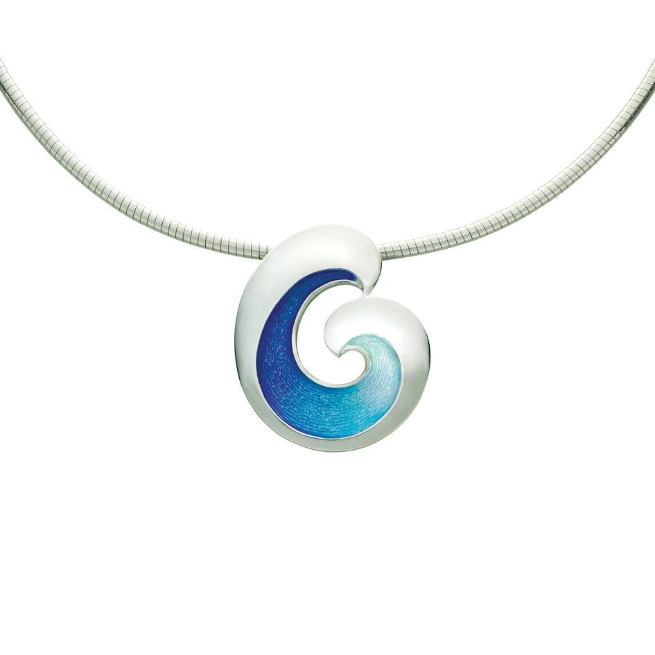 Sheila Fleet Wave Necklace - ENXX135-Ogham Jewellery