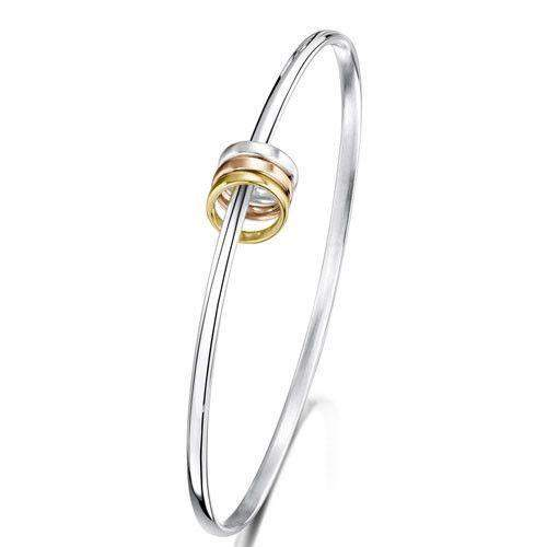 Sheila Fleet Wave Surfers Bangle - SRYBL214-Ogham Jewellery