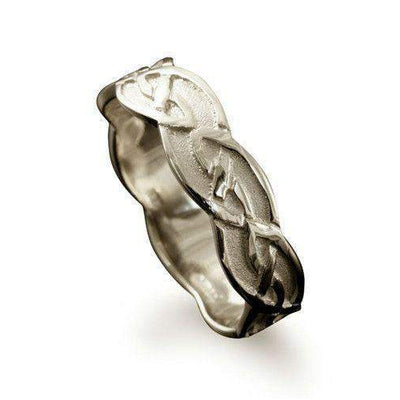 Shetland Foula Celtic Ring - Various Metals - R224 - Size J-Q-Ogham Jewellery