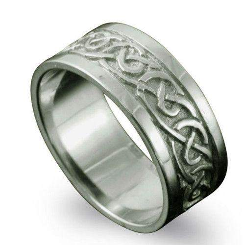 Shetland Jewellery Noss Celtic Ring - R122 J-Q-Ogham Jewellery