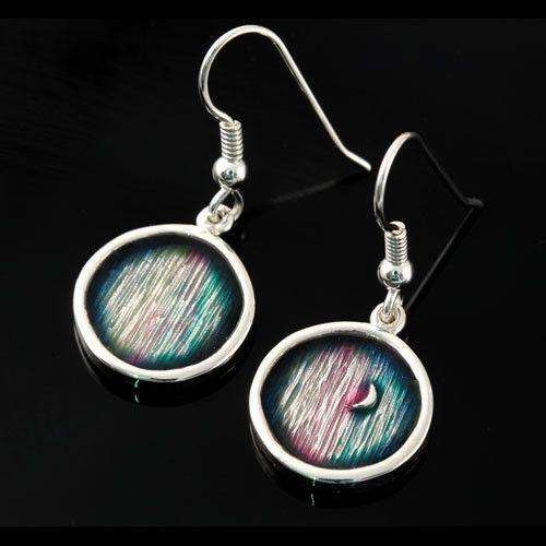 Shetland Mirrie Dancers Silver Earrings MDE20-Ogham Jewellery