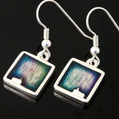 Shetland Mirrie Dancers Rectangular Earrings MDE11-Ogham Jewellery