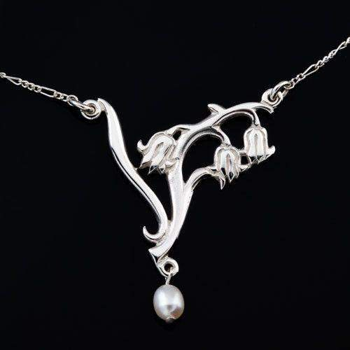 Shetland Silver And Pearl necklace SP249-Ogham Jewellery
