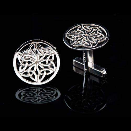 Silver Celtic Cufflinks - C432