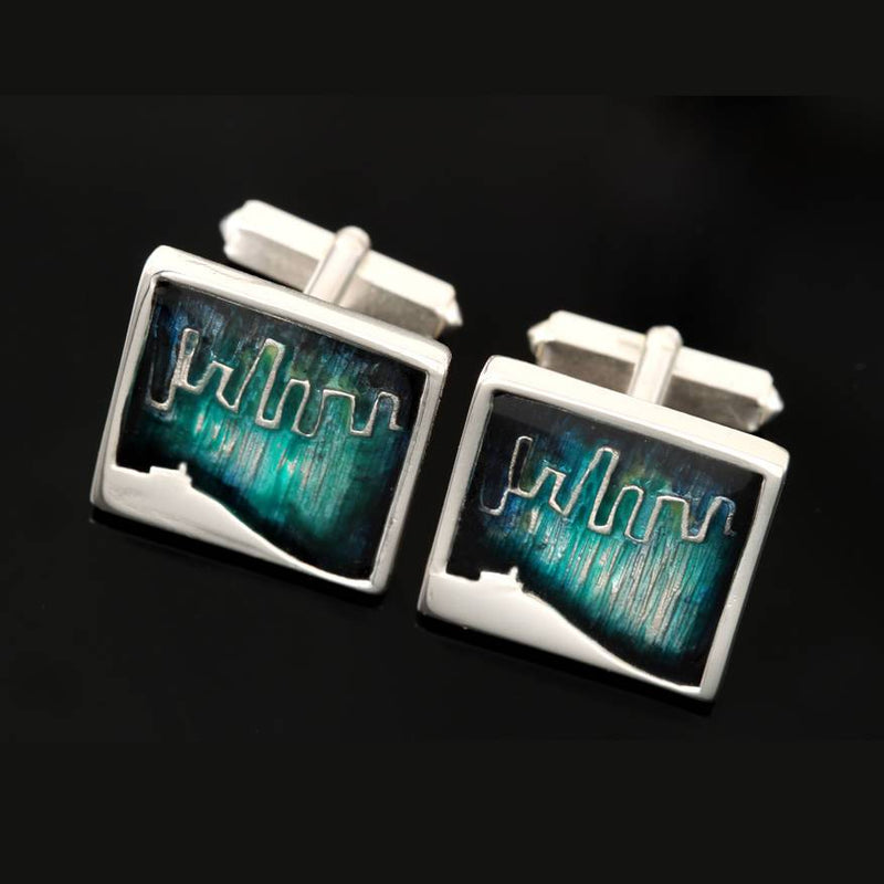 Silver Mirrie Dancers Cufflinks - MDC01