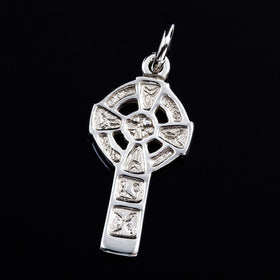 Shetland Silver Or Gold Celtic Cross Charm - CH228-s-Ogham Jewellery