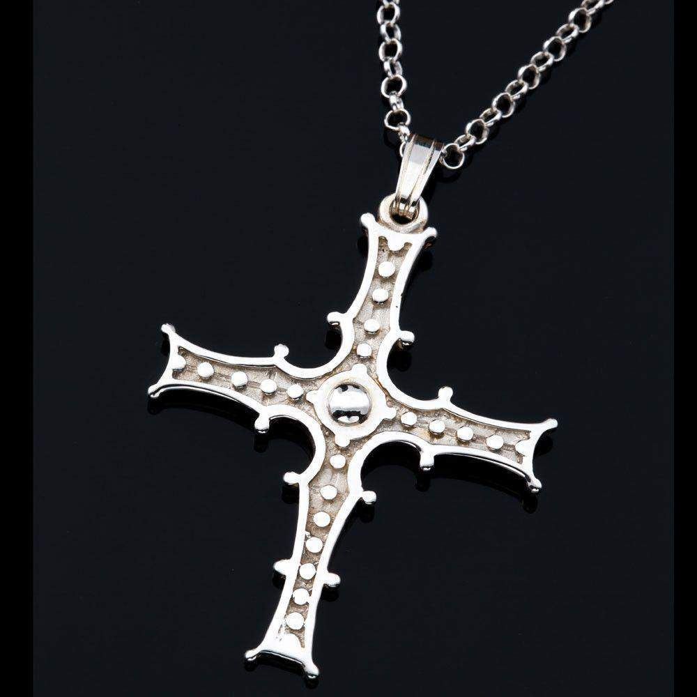 Shetland Silver or Gold Celtic Crosst P290-s-Ogham Jewellery