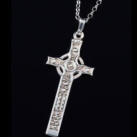 Shetland Silver or Gold Celtic Cross P292-S-Ogham Jewellery