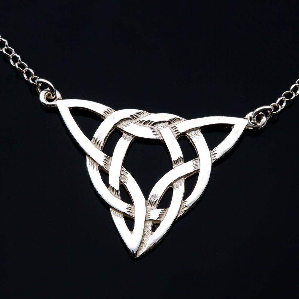 Silver or Gold Celtic Necklace - P191-S