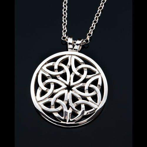Silver or Gold Celtic Pendant - P432