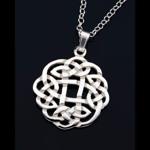 Silver or Gold Celtic Pendant - P434