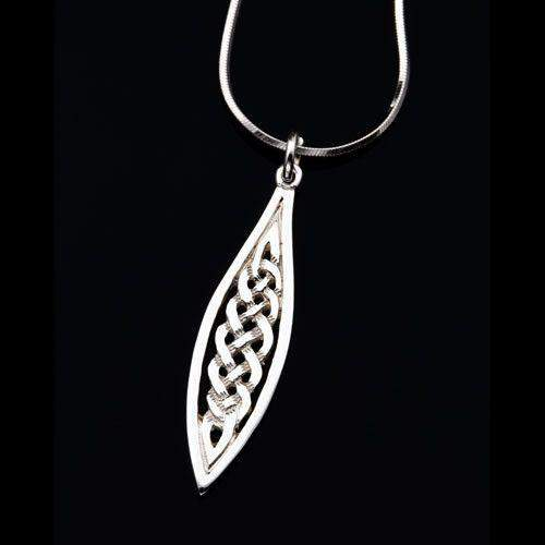 Shetland Silver or Gold Celtic Pendant P485-Ogham Jewellery