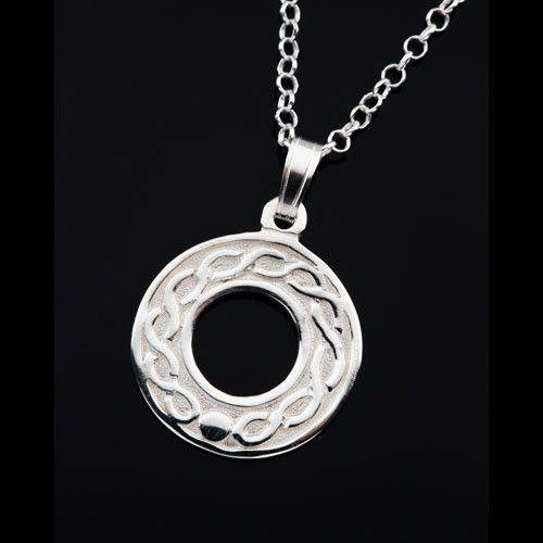 Shetland Silver or Gold Celtic Pendant P603-Ogham Jewellery