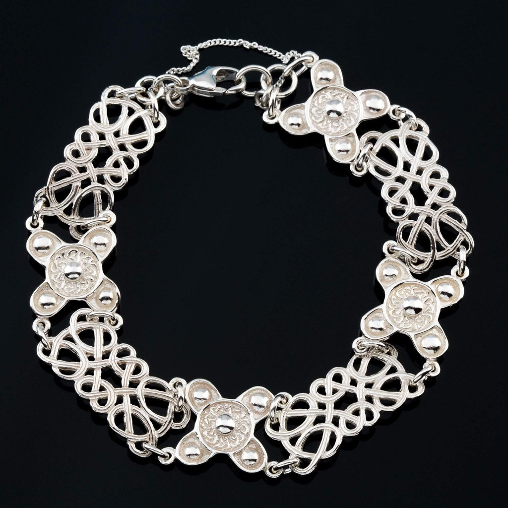 Silver Or Gold St Ninians Isle Celtic Bracelet - BR522-s