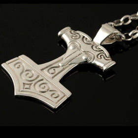 Shetland Silver or Gold Thors Hammer Pendant P566-Ogham Jewellery
